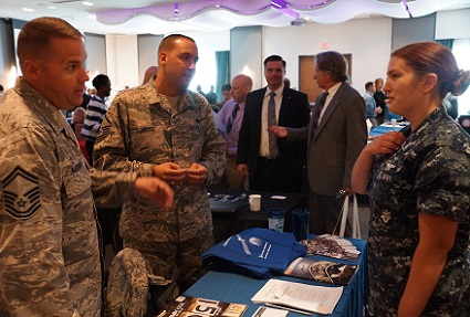 Hundreds of Veterans were in attendance to find employment and connect to critical services at the South Jersey Veterans Job Fair at the Aloft Mount Laurel Hotel