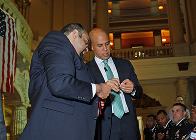 GI Go Fund Executive Director Jack Fanous (left) and U.S. Senator Cory Booker (right) have been strong partners in the fight to help veterans for over six years
