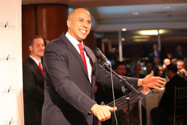 "Newark Mayor Cory A. Booker, who partnered with The GI Go Fund three years ago to create the Newark Office of Veteran Affairs in Newark City Hall, was honored at the 2011 Veterans Day Gala with the ""Innovation in Veteran Services"" Award"