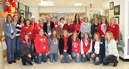 Teachers and Staff at the Chauncey H. Duker School in McHenry, IL wear Jeans for Troops to support the GI Go Fund in honor of Veterans Day