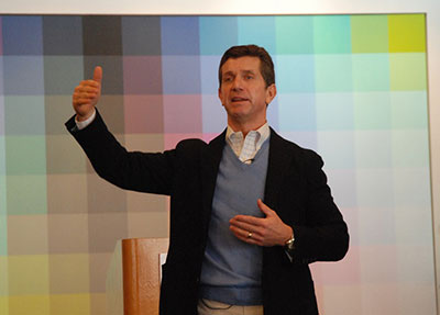Johnson & Johnson CEO and Retired Army Ranger Captain Alex Gorsky sharing his story and advice to hundreds of fellow veterans during Military Career Workshop.
