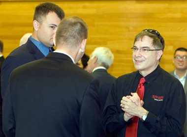 Col. Steven Abel(r), Director of Rutgers Veterans Services, meets with veterans to discuss their potential future as students at Rutgers University