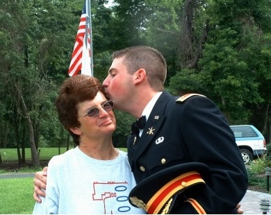 The late Lt. Seth Dvorin, seen here with his mother Sue Niederer, in 2004.