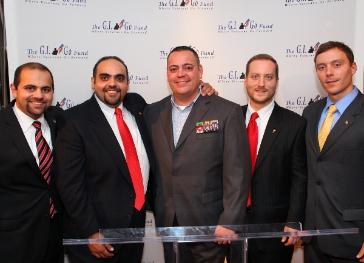 Iraq Vet Alex Pino at 2011 Veterans Day Gala (center) with GI Go Founders